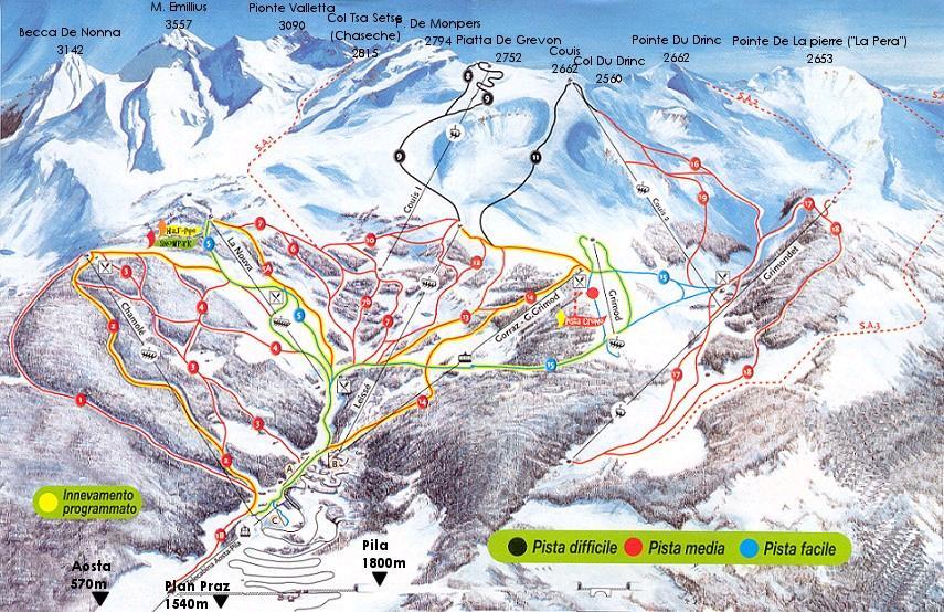 Pila Aosta Valley resort information BoardnLodge Holidays